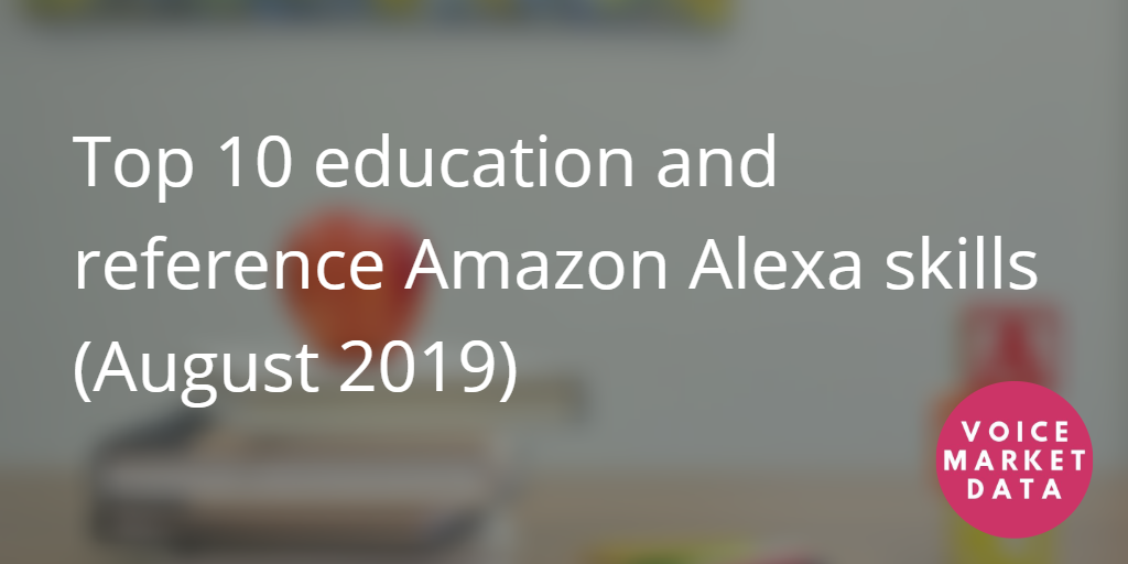 Top 10 education and reference alexa skills